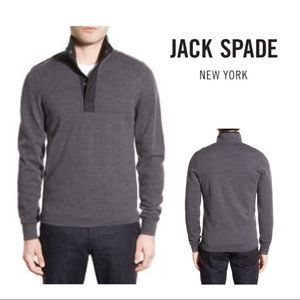 Jack Spade Boyfield Pullover Wool Sweater Gray